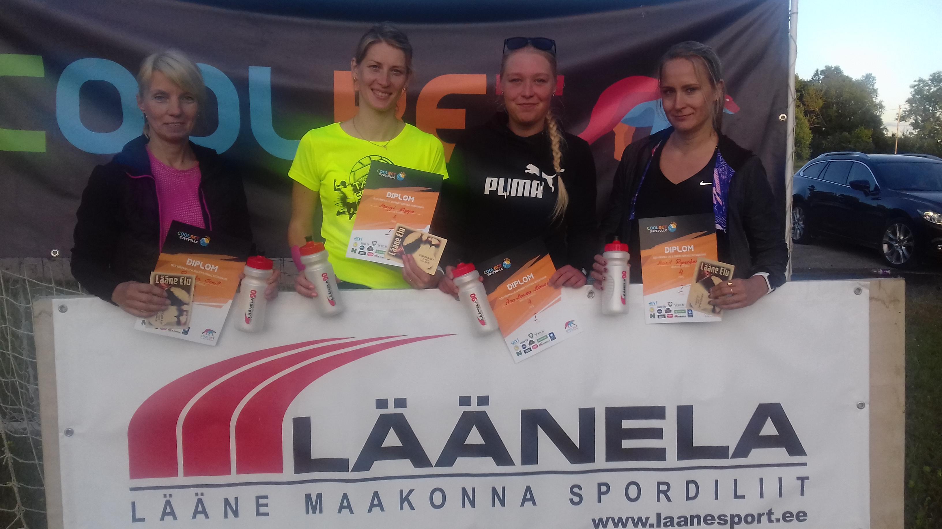 de8ca4a448e ... Laura Kaasik ja Maigi Koppe vajasid koguni kahes mängus võitmiseks  otsustavat lisageimi. Etapi auhinnalaua katsid Spordiliit Läänela ja OÜ Lääne  Elu.